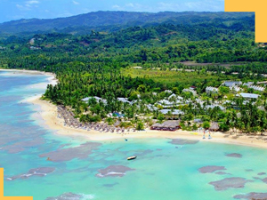 Playa Fronton Beach in Las Galeras, Samana.